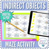 Spanish Indirect Object Pronouns   Grammar Maze   Digital & PDF