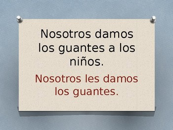 Spanish Indirect Object Pronouns & Preterit Tense Grammar Whiteboard Practice