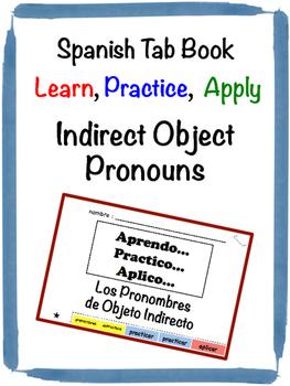 Spanish Indirect Object Pronouns Tab Book