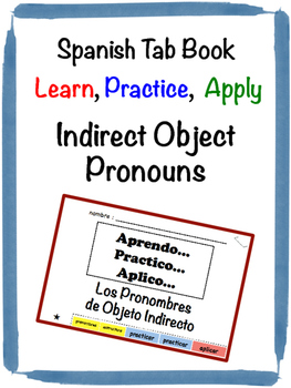 Spanish Indirect Object Pronouns Tab Book