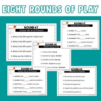 Spanish Indirect Object Pronouns Trashketball Game