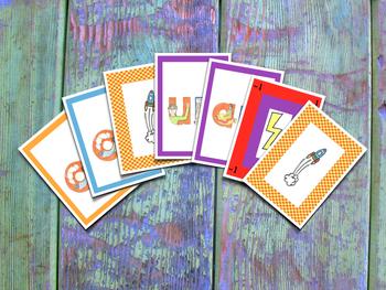 Spanish Indirect Syllables Card Game  - Juego de cartas de sílabas indirectas