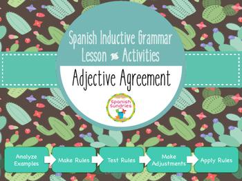 Spanish Inductive Grammar Lesson:  Adjective Agreement