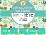 Spanish Inductive Grammar Lesson:  Definite & Indefinite Articles