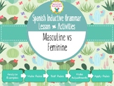Spanish Inductive Grammar Lesson:  Gender of Nouns