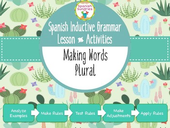 Spanish Inductive Grammar Lesson:  Making Words Plural