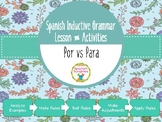Spanish Inductive Grammar Lesson:  Por vs Para
