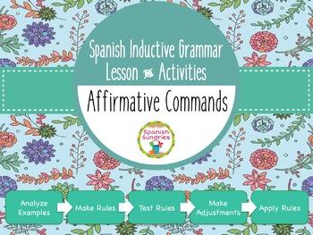 Spanish Inductive Grammar Lesson:  Affirmative Commands