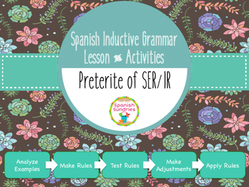 Spanish Inductive Grammar Lesson:  Preterite Tense of SER & IR