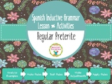 Spanish Inductive Grammar Lesson:  Regular Preterite Tense