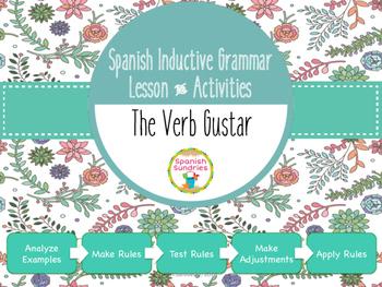 Spanish Inductive Grammar Lesson:  The Verb Gustar