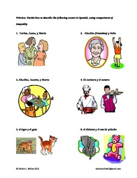 Spanish Inequality Lesson with 2 Activities