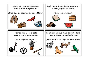 Spanish Inferences with visual clues- Inferencias con claves visuales