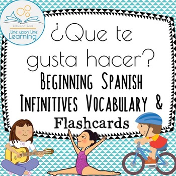 Spanish Infinitives Vocabulary Flashcards ¿Que te gusta Hacer?
