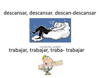 Spanish Infinitive Vocabulary Rap