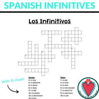 Spanish Verbs CROSSWORD - Spanish AR Verbs