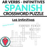 Spanish AR Verbs - Spanish Infinitives - Spanish Crossword Puzzle