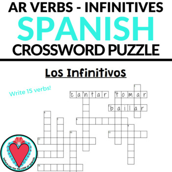 Spanish Infinitives CROSSWORD