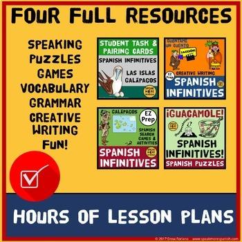 Spanish Infinitives for Present Tense Verbs BUNDLE. Verbos Infinitivos Español