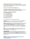 Spanish Influenced English REFERENCE/HANDOUT- DifferenceNo
