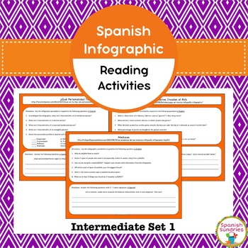 Spanish Infographic Reading Activities - Intermediate Set 1