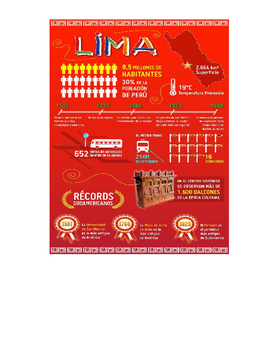 Spanish Infographic Reading – Lima, Peru