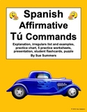 Spanish Commands Bundle - Spanish Tú Commands Worksheets and Reference