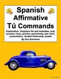 Spanish Commands Bundle - Spanish Tú Commands Worksheets a