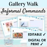EDITABLE Spanish Informal Commands Gallery Walk Writing Ac