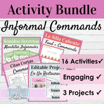 Spanish Informal Commands Bundle: Notes, Practice, Quiz, and Projects