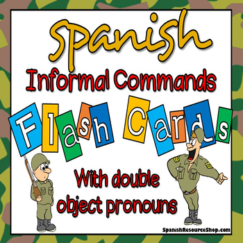 Spanish Informal Commands with Double Object Pronouns Flashcards