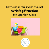 Spanish Informal Tu Commands Writing Assignment