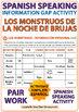Spanish Information Gap Activity - Halloween Monsters