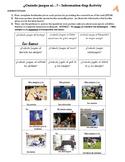 JUGAR Spanish Information Gap (Speaking): Jugar/sports/deportes
