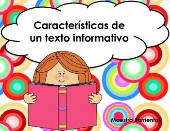 Spanish Informational Text Features - Caracteristicas de un Texto Informativo