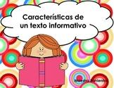 Spanish Informational Text Features - Caracteristicas de u