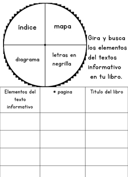 Spanish Infromational Text Scavenger Hunt