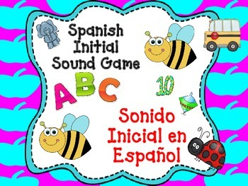 Spanish Initial Sound Bilingual Game A-M