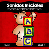 Spanish: Sonidos Iniciales Word Work Stations