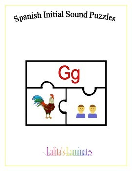 Spanish Initial Sound Puzzles