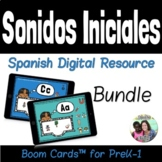 Spanish Initial Sounds Boom Cards Bundle | Distance Learni