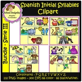 Spanish Initial Syllables ClipArt - Serie III -Silabas Ini