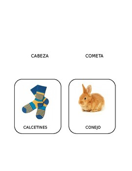 Spanish Initial /k/ Articulation Cards