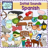 Spanish Alphabet Initial sounds clipart {Sonidos iniciales