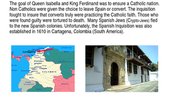 Spanish Inquisition in Cartagena (in English)
