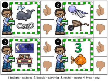 Spanish: Insect Themed Rhyming Stations