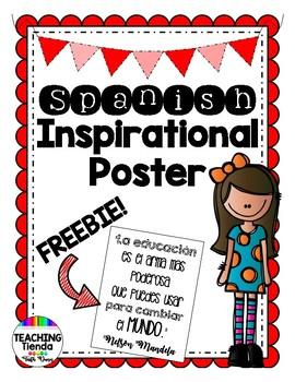 Spanish Inspirational Poster Freebie