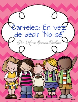 """Spanish Instead of """"I Don't Know"""" Wall Posters (Bulletin Board Set)"""