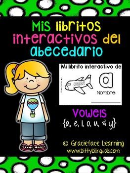 Spanish Interactive Books Vowels - Mis libritos interactivos de las vocales
