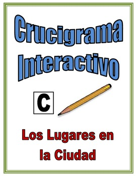Spanish City Location Interactive Crossword Puzzle, Speaking Activity
